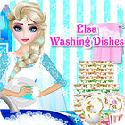 Elsa Washing Dishes game