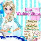Elsa Washing Dishes game