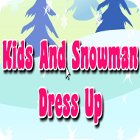 Kids And Snowman Dress Up game
