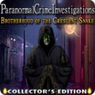 Paranormal Crime Investigations: Brotherhood of the Crescent Snake Collector's Edition game