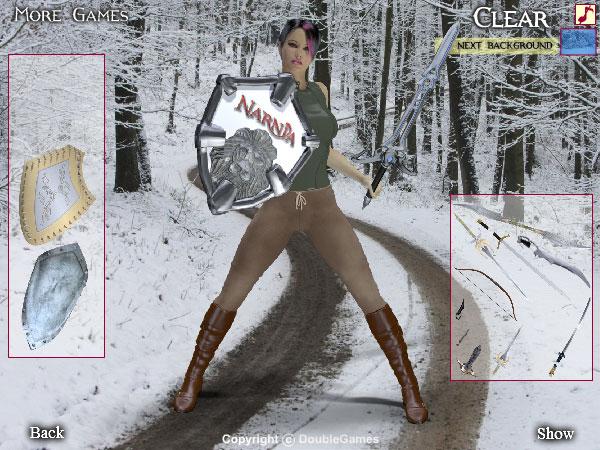 Narnia 3 Dress Up Game screenshot: chronicles of narnia, narnia 3, narnia game, chronicles of narnia game, free game, flash game, freeware game