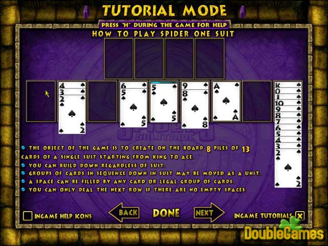 spider solitaire game free  for pc