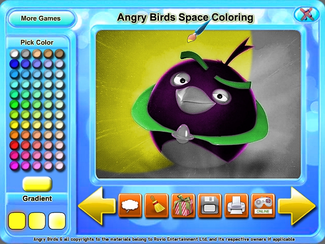 Angry Birds Space Coloring Game Download For PC And Mac