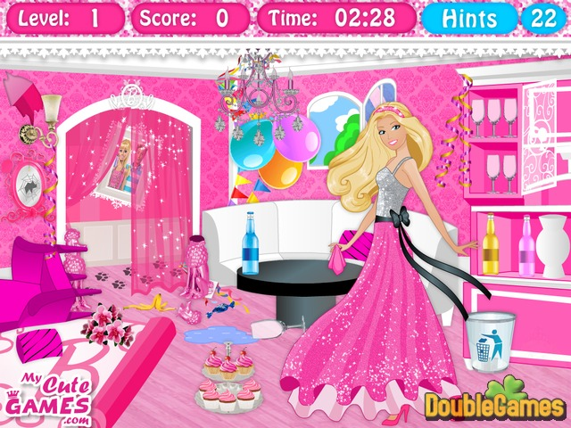 Barbie Dreamhouse Cleanup Online Game