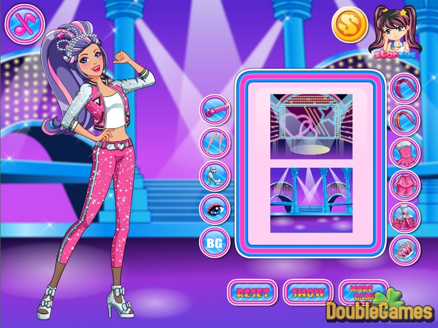 barbie rock and royals style online game