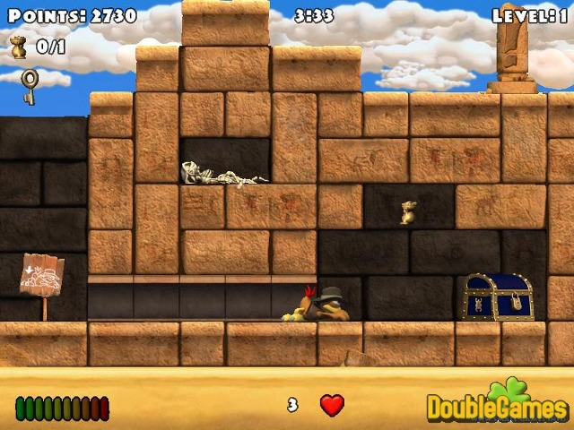 Free Download Crazy Chicken: The Winged Pharaoh Screenshot 2