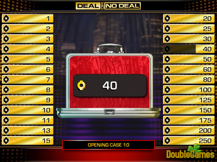 Play deal or no deal for free! Win cash and prizes! Super coupon.