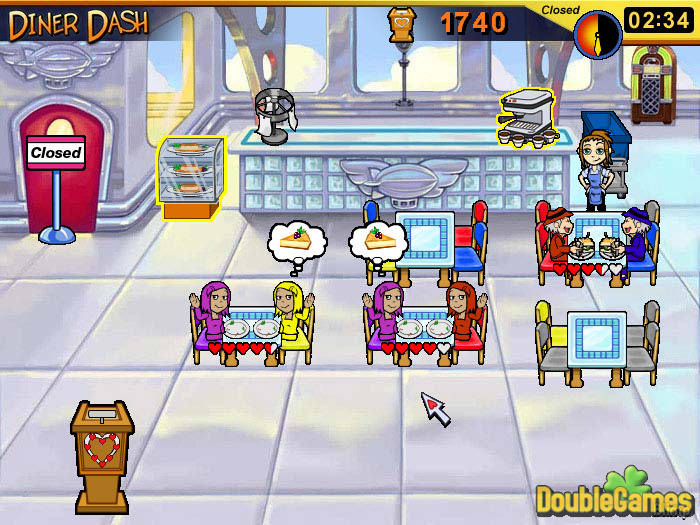 Play diner dash online, free on yahoo
