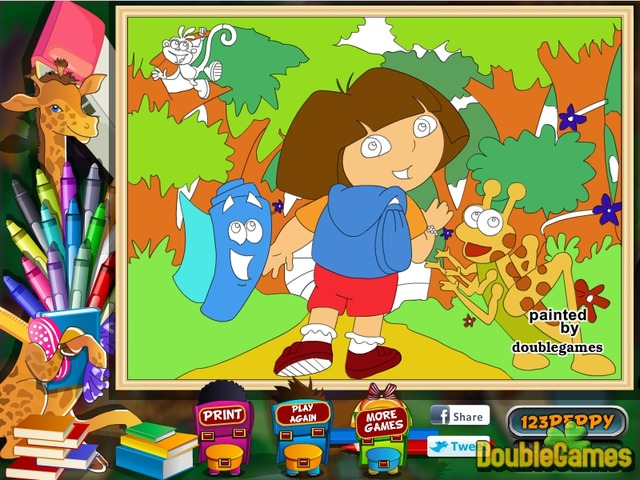Dora the Explorer Online Coloring Page Online Game