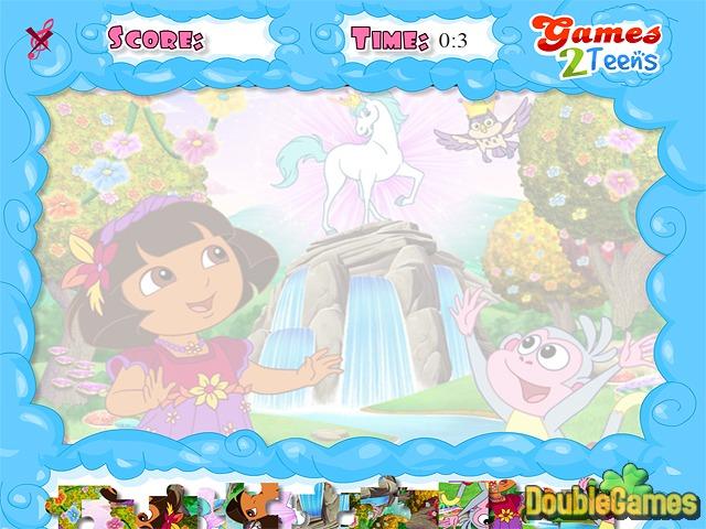 Dora the Explorer: Jolly Jigsaw Online Game