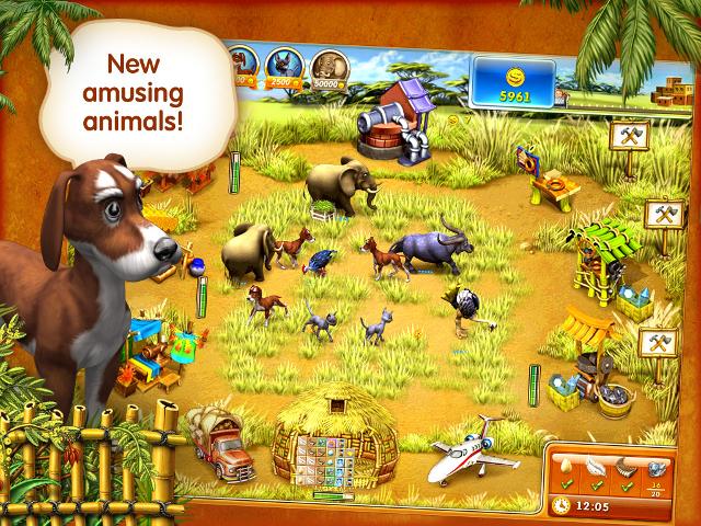 Веселая ферма 3 - Мадагаскар. новые и бесплатные онлайн ферма 3 - Мадагаска