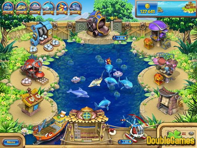 Для просмотра больших фотографий Игры Веселая ферма 3. Рыбный день (Jewel)
