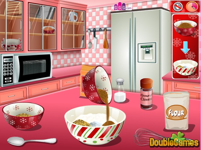 Sara\'s Cooking — Gingerbread House Online Game