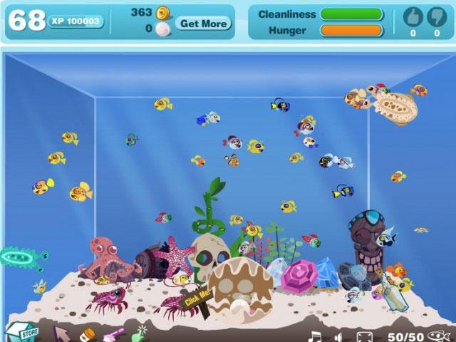 happy aquarium online game on facebook overview walkthrough