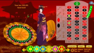 Japanese Roulette - A beautiful girl invites you to win money!