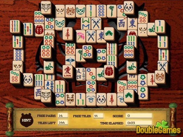 Скачать бесплатно Kung Fu Panda 2 Mahjong Mayhem скриншот 1. Сыграть в онла