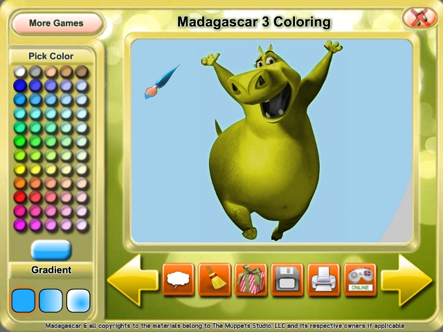 Madagascar 3 Coloring Game Download for PC and Mac