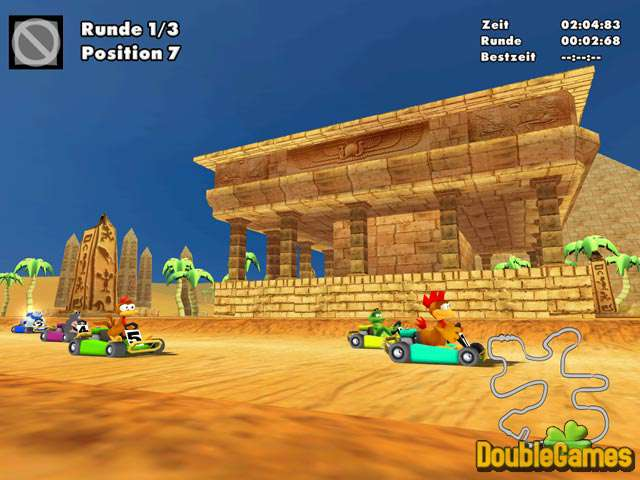 Moorhuhn Kart لعبة سباق السيارات التي يقودها الدجاج خفيفة مسلية,بوابة 2013 moorhuhn-kart-2_1_bi