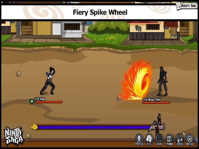 cry of love allows gamer to play ninja saga started