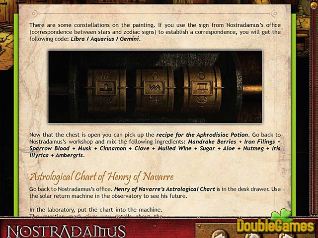 Free Download Nostradamus: The Last Prophecy Strategy Guide Screenshot