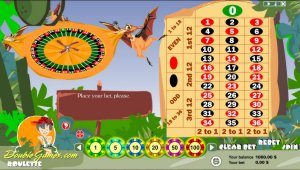 We call your attention to Prehistoric Roulette. Play and you will notice roulette has never been so funny! You will see three pterodactyls holding the roulette, and the game table made of a stone of slate. This game never bores you!