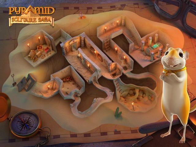 pyramid solitaire saga king