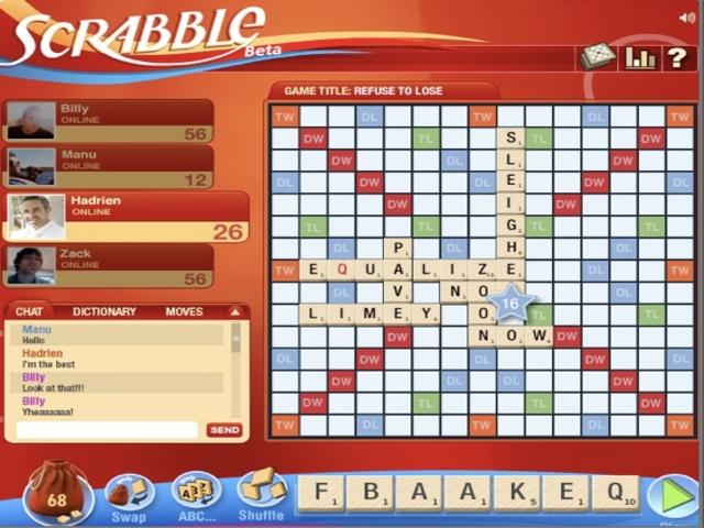 Scrabble Facebook online game on FaceBook: overview