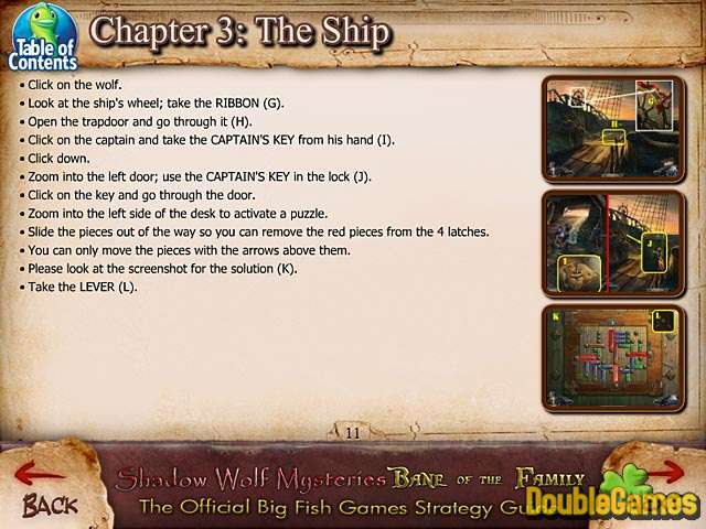 Free Download Shadow Wolf Mysteries: Bane of the Family Strategy Guide Screenshot 2