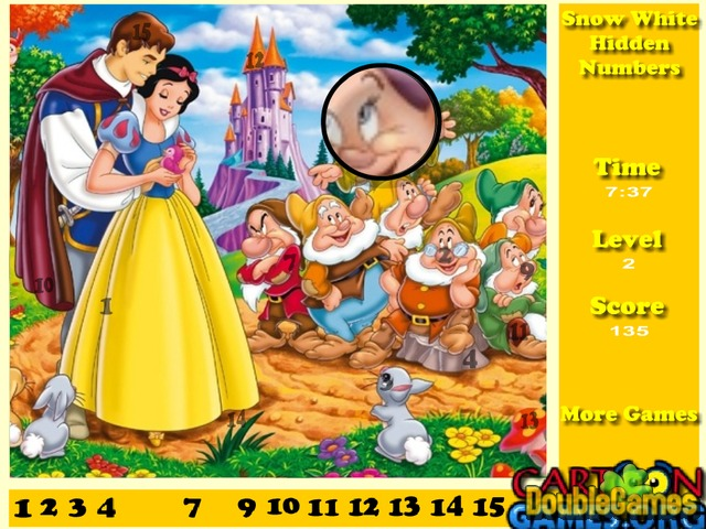 Snow White Hidden Numbers Online Game