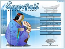 Screenshot of Snowfall Solitaire