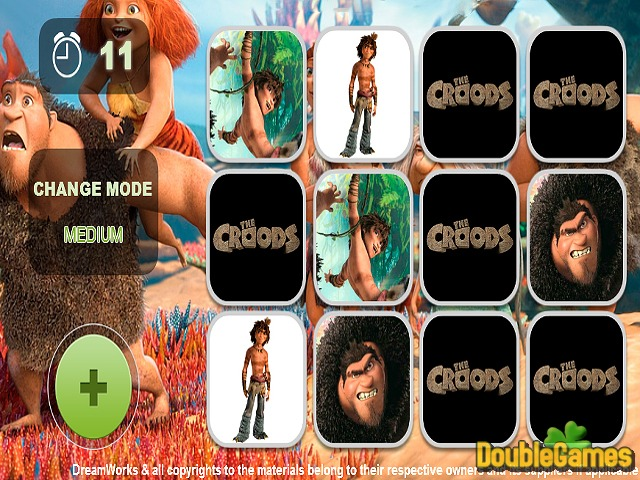 Free Download The Croods Memory Game Screenshot 2