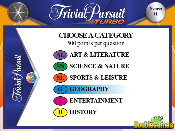 TRIVIAL PURSUIT TURBO RELATED GAMES