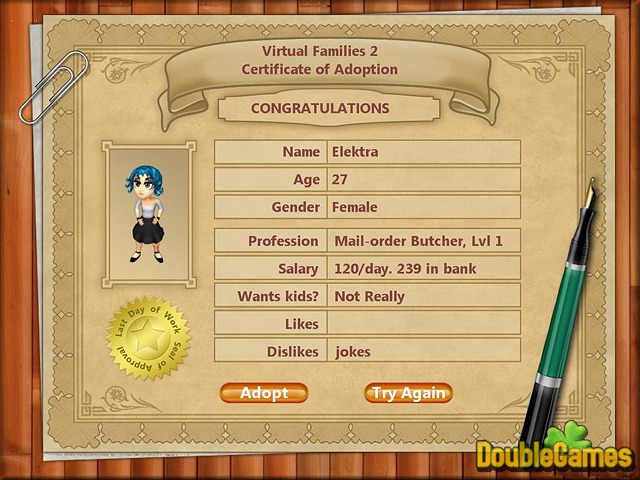 Virtual families 2 game free download full version for pc.