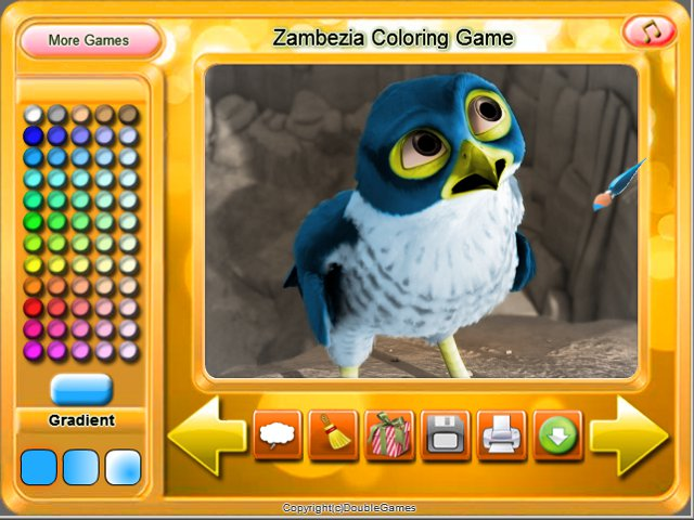 Free Download Zambezia Coloring Game Screenshot 1