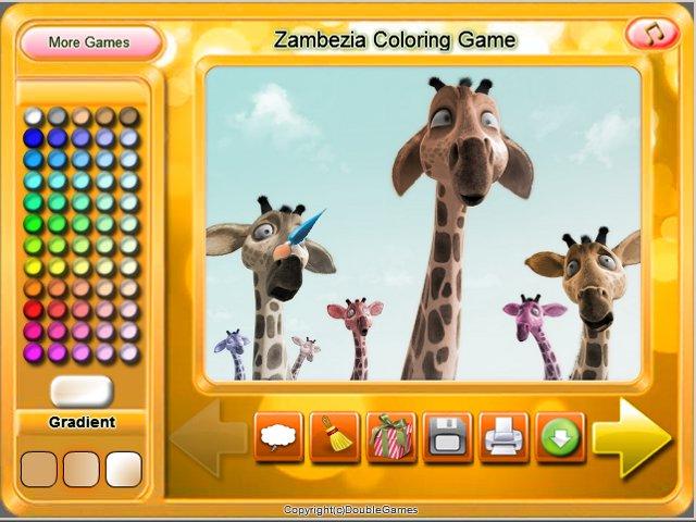 free download zambezia coloring game screenshot 3 - Free Coloring Games Download