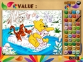 Free Download Winnie, Tigger and Piglet: Colormath Game Screenshot 1